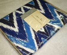 ROSE TREE NEW HAVEN Window VALANCE Chevron Print Lined & Tailored Blue White NEW