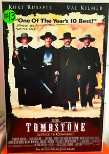 36 x 24 inch Tombstone poster in Xlnt Condition $7.99