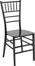 Black Resin Chiavari Chair - Commercial Quality Stackable Wedding Venue Chair