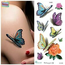 High Quality 21cm x 10cm  Fake Temporary Tattoo Colourful Butterfly /-b64-/