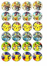 Edible Cake / Cupcake Toppers POKEMON - Highest Australian Quality