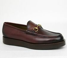 New Gucci Men's Shaded Leather Platform Horsebit Loafer 13.5/US 14.5 353043 6123