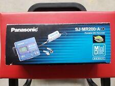 Panasonic Mini Disc Portable Md Recorder Sj-Mr200-A