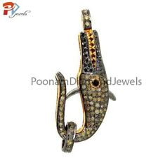 clasp Finding Fine Jewelry -Sterling-Silver-Designer -Lobster fish shape Diamond