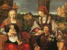 A3 Box Canvas Lucas Van Leyden Madonna And Child With Mary Magdalene And A Donor