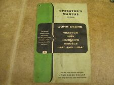 John Deere Ja Jba Disk Harrow Operators Manual