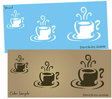 STENCIL Espresso Cups Java Coffee Latte Kitchen Home Decor Cafe Signs you Paint