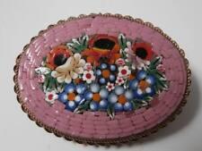 Belle broche en micromosaique décor floral vers 1930 Nice brooch mosaic flower