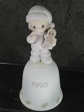 Precious Moments Porcelain Bell 1993 Wishing You The Sweetest Christmas mib