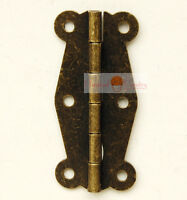 Classic Furniture Hardware three trilateral hinges for cabinet door trunk 10pcs
