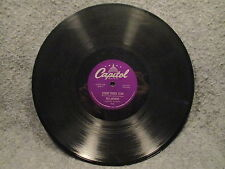 """78 RPM 10"""" Record Ray Anthony The Darktown Strutters Ball & Count Capitol 979"""