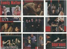 The Sopranos - Family Matters - Chase Foil Insert Card Set (9) - 2005 - NM