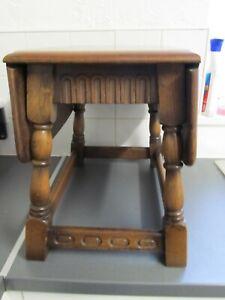 Vintage Edwardian? Dark Oak Drop Leaf Coffee Tea Table Cottage height 41cms