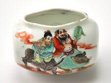 Vintage Porcelain Handmade Hand painted Birdfeeder Bird feeder Ancient Immortals