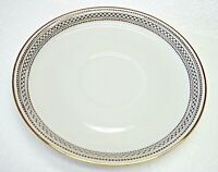 Franconia/Krautheim Selb Bavaria Saucers 7187 - Set of 5 White- Black/Gold trim