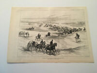 KL1) General View of Action Battle in Front of Kassassin Egypt 1882 Engraving