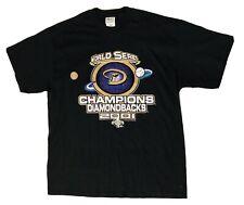NWOT VTG Arizona Diamondbacks World Series Champions 2001 Black T-Shirt Mens XL