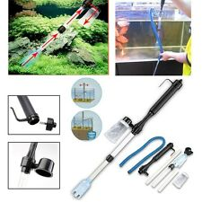 Aquarium Gravel Battery Fish Tank Vacuum Siphon Cleaner Pump Water Filter USA