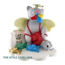 KITTY IN HEAVEN CHRISTMAS ORNAMENT GRAY