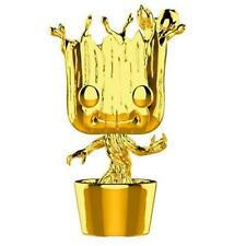 Funko Pop Groot 378 Marvel Studios 10th Anniversary Gold Chrome With Protector