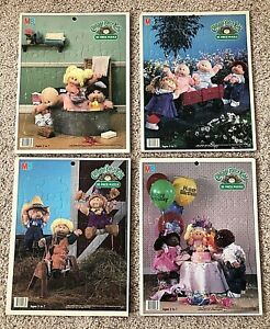 CABBAGE PATCH KIDS 25-Piece Jigsaw Puzzles - Lot of 4 - 1984