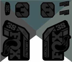 Fox 38 Factory 2021 Decals - Stealth Black