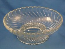 Fostoria Colony - Footed Oval Bowl - Swirl - Pattern 2412 - Clear