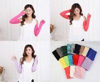 Fashion Women/Girl Warm Arm Warmer Cotton Long Fingerless Gloves Party Gift HQ