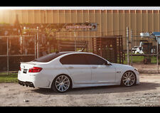 "BMW 550I VOSSEN WHEELS NEW A4 CANVAS GICLEE ART PRINT POSTER 11.7"" x 8.3"""