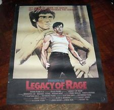 "Brandon Lee Kwok-Ho ""Legacy of Rage"" HK 1986 Original Overseas Version POSTER"