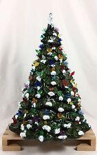 "Vtg LARGE Ceramic Holland Mold FLOCKED SNOW Christmas Tree 17"" Tall"