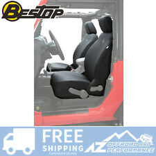 BESTOP FRONT SEAT COVERS - 07-12 Jeep Wrangler JK JKU Factory Seats - Black
