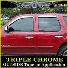 2007-10 2011-2014 GMC Yukon Chevy Tahoe Chrome 4PC Door Vent Visors Rain Guards