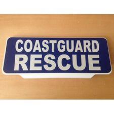 COASTGUARD RESCUE White Text univisor Sign visor Safe Response