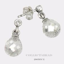 Authentic Pandora Silver Geometric Drops Clear CZ Stud Earrings 290595CZ