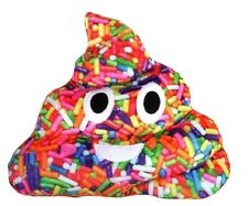 Emojicon Pillow Plush Sprinkles Print Poop New