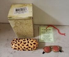Limoge Style Trinket Box & Trinket Hinged Treasure Mini Leopard Sunglass Case