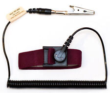 Esd Safe Anti Static Wrist Strap -With Coiled Cord Maroon 10pcs