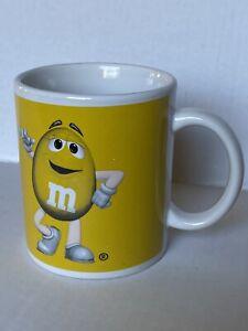 M&M Flower Pot Ceramic Succulent Planter Yellow Coffee Mug Home Garden Gift
