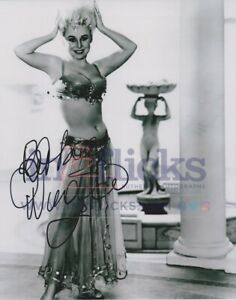 Barbara Windsor AUTOGRAPH Carry On Spying SIGNED IN PERSON 10x8 Photo OnlineCOA
