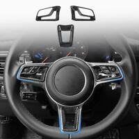 Lenkrad Knopf Rahmen Abdeckung Dekoration für Porsche 718 Boxster 2016-20 Macan