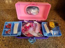 Childcrafl Hair Clip Barrette Making Craft Kit Case Kids New flowers beads U.S.A