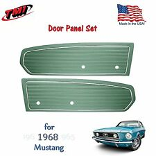 Turquoise Door Panels For 1968 Mustang Pair by TMI-Made in the USA  In Stock!!