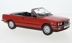 MCG 18151 or 18152 BMW 3ER E30 CABRIOLET model road cars red or silver 1985 1:18