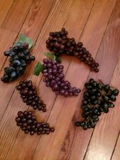 Lot of 6 groups of assorted grapes, assortment of rubber grapes
