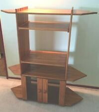 Solid natural Baltic pine cube modular shelving corner unit, excellent cond.