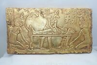 RARE ANCIENT EGYPTIAN ANTIQUE ANUBIS Lord of Mummification Stella 1761-1437 BC