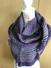 Hand Knitted Shawl/Wrap: Beautiful Swedish Wool, , Heathers, by Knitted Nature