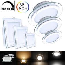 LED Panel Glas Einbaustrahler Deckenleuchte Einbau Beleuchtung Flach Eckig Rund
