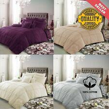 Soft Egyptian Cotton Checked Affilia Hemlet Duvet Cover Bedding Set Pillowcases